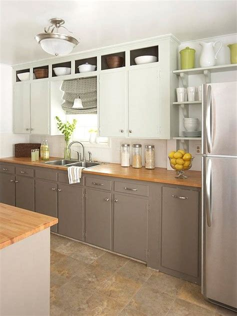 butcher block cabinet tops gray cabinets with butcher block counter kitchen dreaming pinterest
