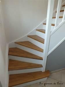 Repeindre Escalier En Bois : escalier broc et patine le grenier de sara ~ Dailycaller-alerts.com Idées de Décoration