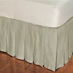 amazon com box pleat cotton bed skirt queen natural 14