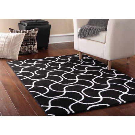 black rug walmart mainstays drizzle area rug black white walmart