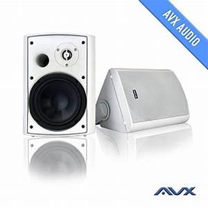 6 5 U0026quot  Outdoor Weatherproof Patio Speaker Pair  White  Psp