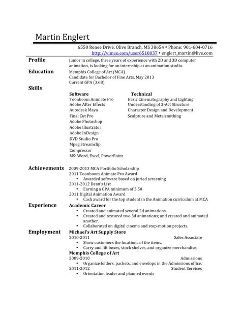 Draft Of Resume by Animationanimationanimation Resume Draft 1