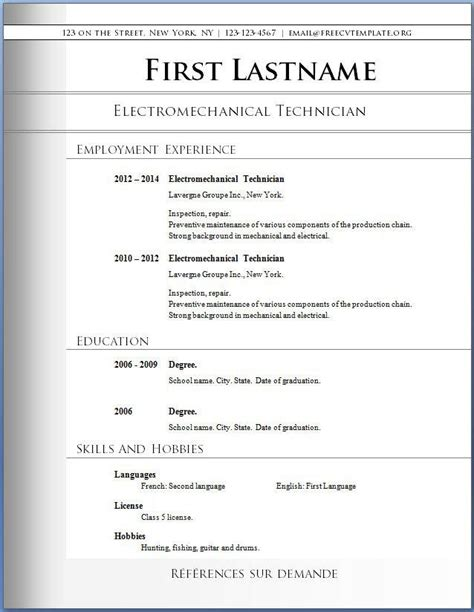 Basic Exle Resume by Basic Resume Template Free Premium Templates Forms Sles For Jpeg Png Pdf