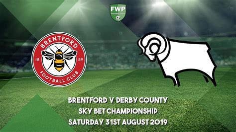 Sky Bet Championship | Brentford 3 - 0 Derby County | 2019 ...