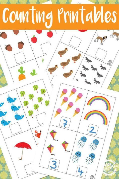 math counting printables  preschool