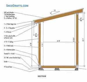 6 U00d710 Lean To Firewood Storage Shed Plans Blueprints For