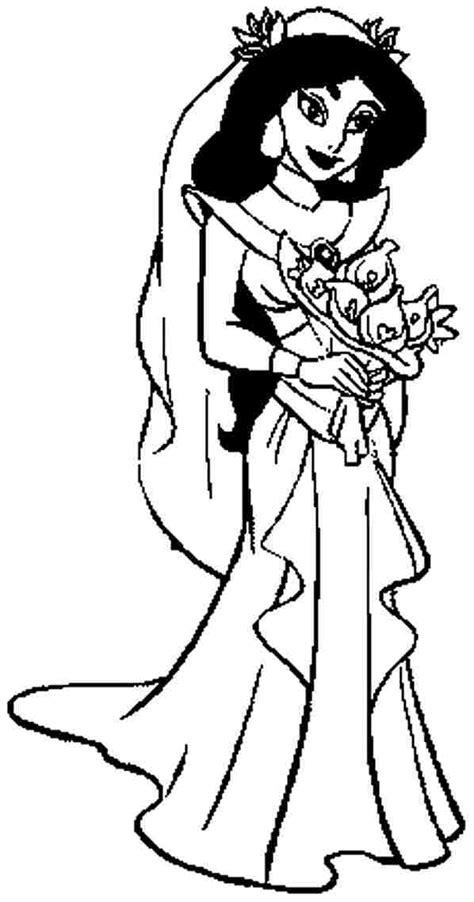 princess jasmine coloring pages  kids  disney cartoon