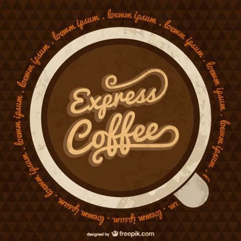 express template express coffee template vector free