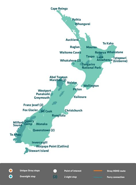 zealand bus passes  tours stray nz