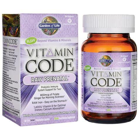 garden of vitamin code prenatal garden of vitamin code prenatal 6 billion cfu 30