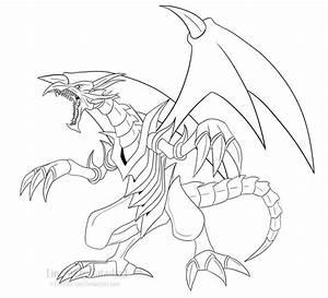 Red-Eyes Black Dragon Line Art by FireFlea-San on DeviantArt