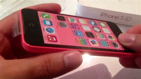 iphone 5c in pink unboxing mf096dn a iphone 5c pink 32gb model a1507