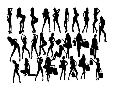 Woman Silhouette svg Woman SVG Women Clip Art Sexy girl | Etsy