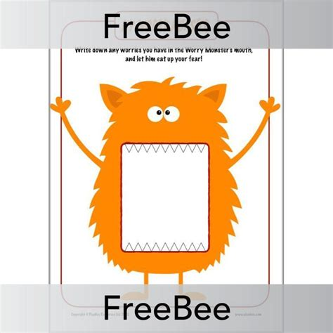 Worry Monster Activity Sheets