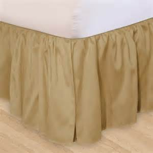 ruffled 3pc adjustable bed skirt walmart com