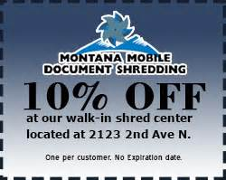 montana mobile document shredding With montana mobile document shredding