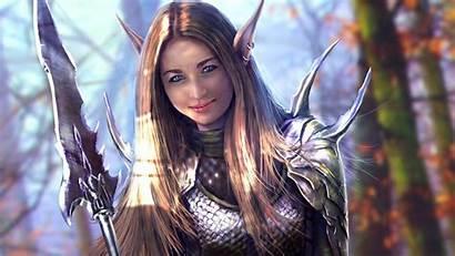 Warrior Fantasy Elf Desktop Wallpapers Female Warriors
