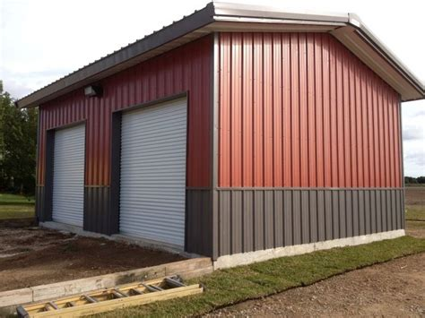 This Metal Building By Buck Steel Which Is A 30' X 25' X