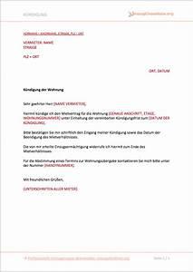 Mieter Kündigen Vorlage : kundigung wohnung vorlage word ~ Orissabook.com Haus und Dekorationen