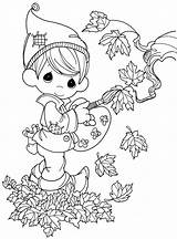 Coloring Fall Elf Printable Precious sketch template