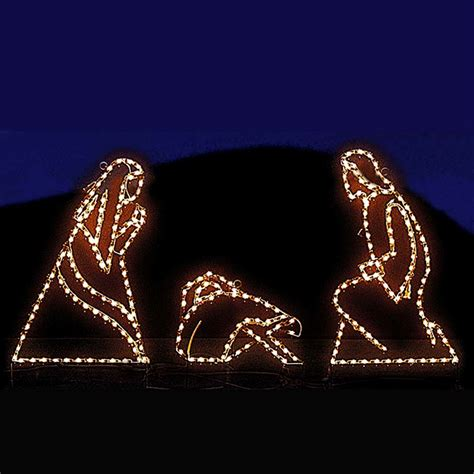 jesus outside christmas lights small nativity mini led light display 24 5 10 pc set