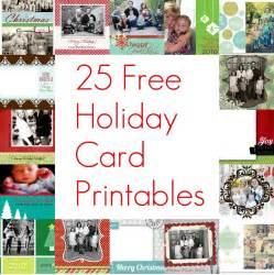 Free Christmas Holiday Card Printables