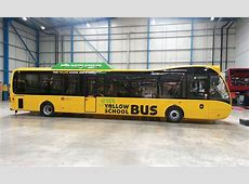 Hybrid Versa yellow school buses for Manchester Bus