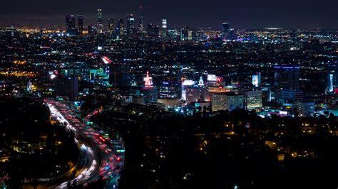 downtown los angeles  hollywood freeway  night