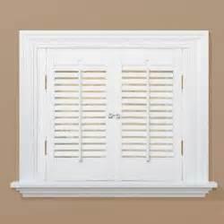 homebasics traditional real wood snow interior shutter