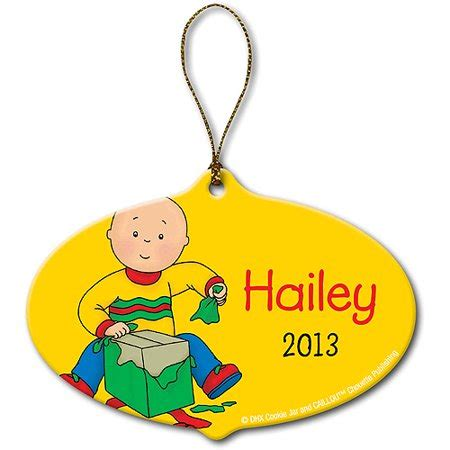 Personalized Caillou Gift Christmas Ornament Walmartcom