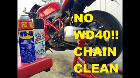 Clean & Lube Your Motorcycle Chain. (why Not To Use Wd40