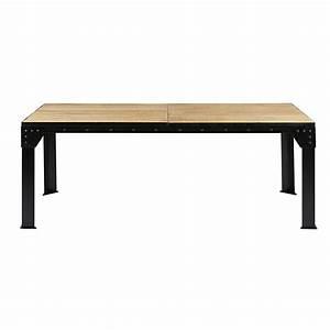 Table Bois Metal Extensible : table manger extensible 8 12 personnes en manguier et m tal l200 280 factory maisons du monde ~ Teatrodelosmanantiales.com Idées de Décoration