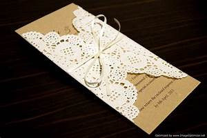 Rustic chic wedding invitation sample paper doily doilies for Wedding invitations with paper doilies