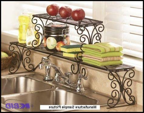2 tier over the sink shelf kitchen 2 tier scrolled black over the sink shelf