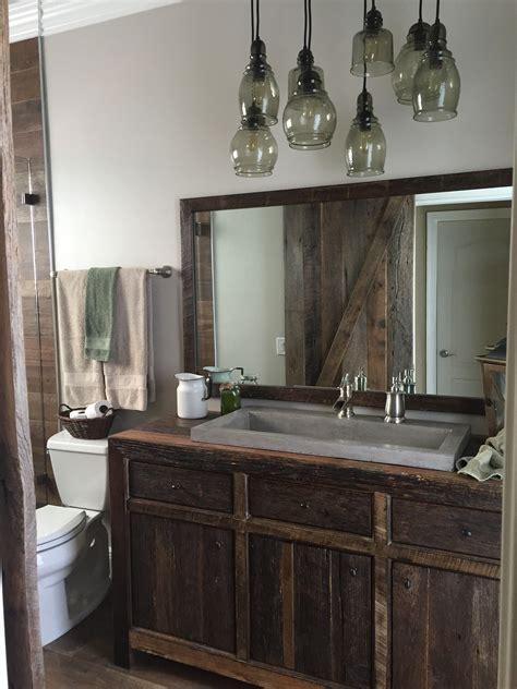 robbies rustic reclaimed wood bathroom vanity fama