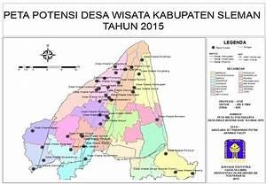 Gambar 3  Peta Potensi Desa Wisata Kabupaten Sleman 2015