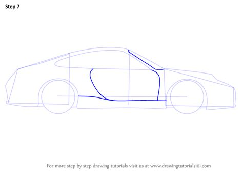 Learn How To Draw A Porsche Car Side View (sports Cars