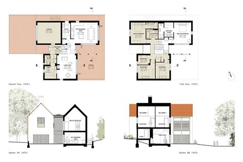 modern house plans designs modern 5 bedroom house floor plans home design and style