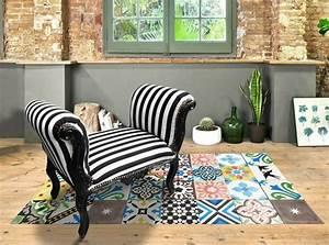Tapis Vinyl Salon : tapis vinyle carreaux de ciment pour d corer le sol avec succ s ~ Teatrodelosmanantiales.com Idées de Décoration