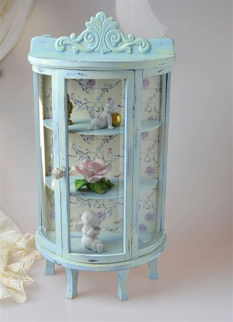 small table top curio cabinet shabby chic small glass display case display curio cabinet