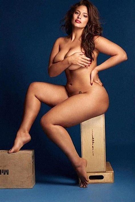 Ashley Graham Nude Plus Size Model Showed Massive Ass