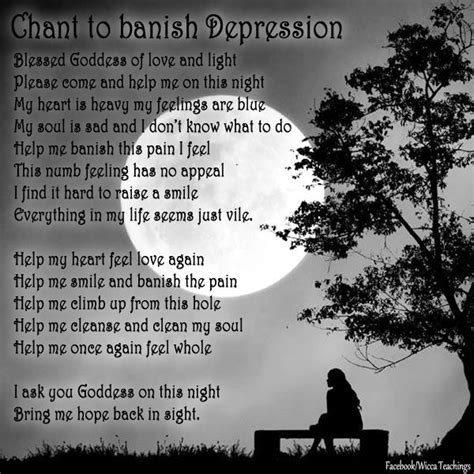 light to help with depression a chant to banish depression blessed goddess of love and