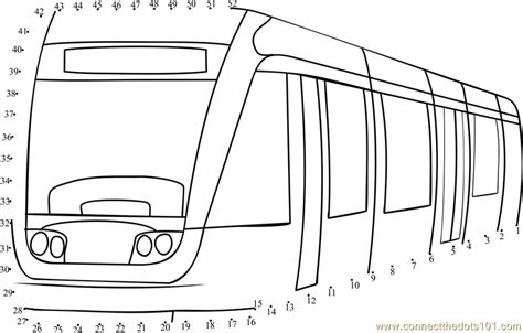 Tram Kleurplaat by Metro Tram Printable Coloring Pages