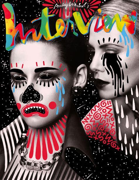 Interview Magazine Pop Art Style Covers  Jenna Hughes