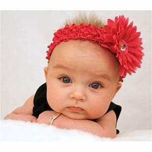 Photo De Bébé Fille : bandeau barrette b b fille mod le marguerite rouge ~ Melissatoandfro.com Idées de Décoration
