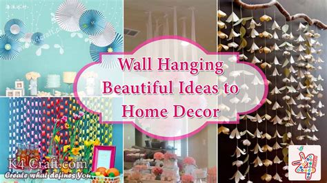 diy wall hanging ideas  decorate  home  craft