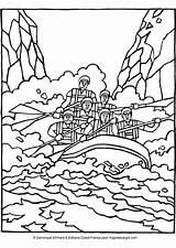 Rafting Imprimer Scrapbooks Kleurplaat Ríos Descenso Dessins Colorier Sporten sketch template