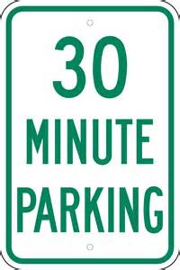 30-Minute Parking Signs