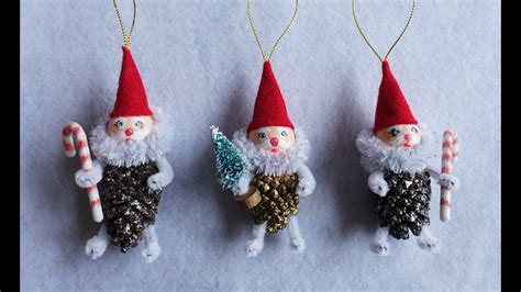 diy pinecone gnome ornament tutorial part  youtube