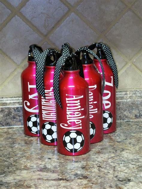 items similar  personalized aluminum water bottle soccer  etsy cricut projects vinyl